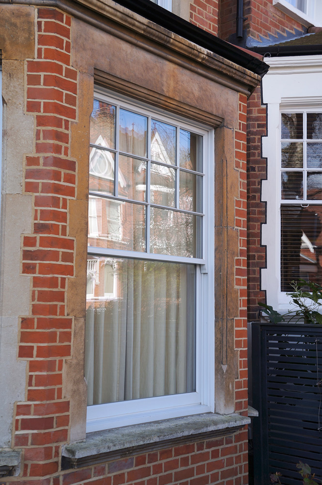 conventional slim box sash window top georgian bar detail