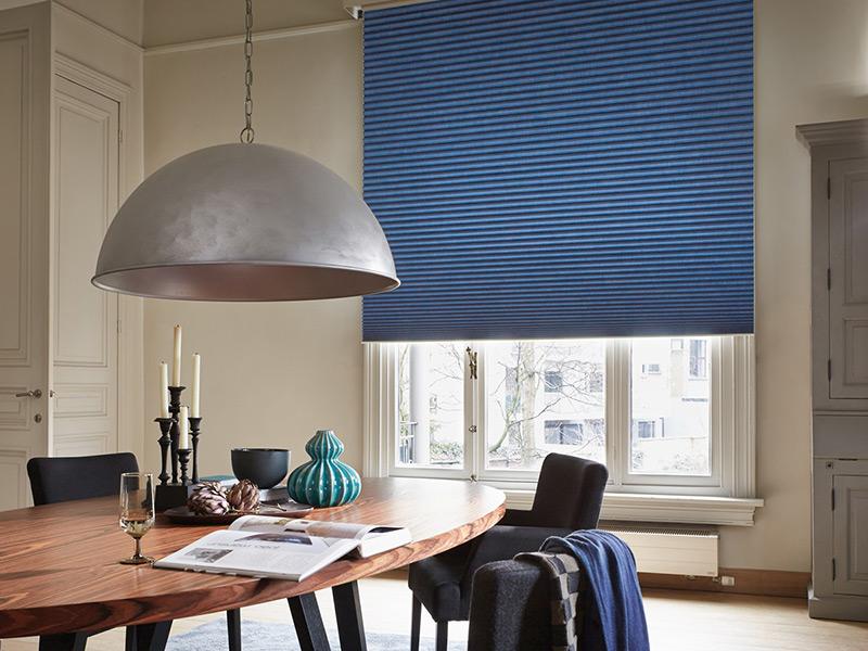 luxaflex large duette blind blue