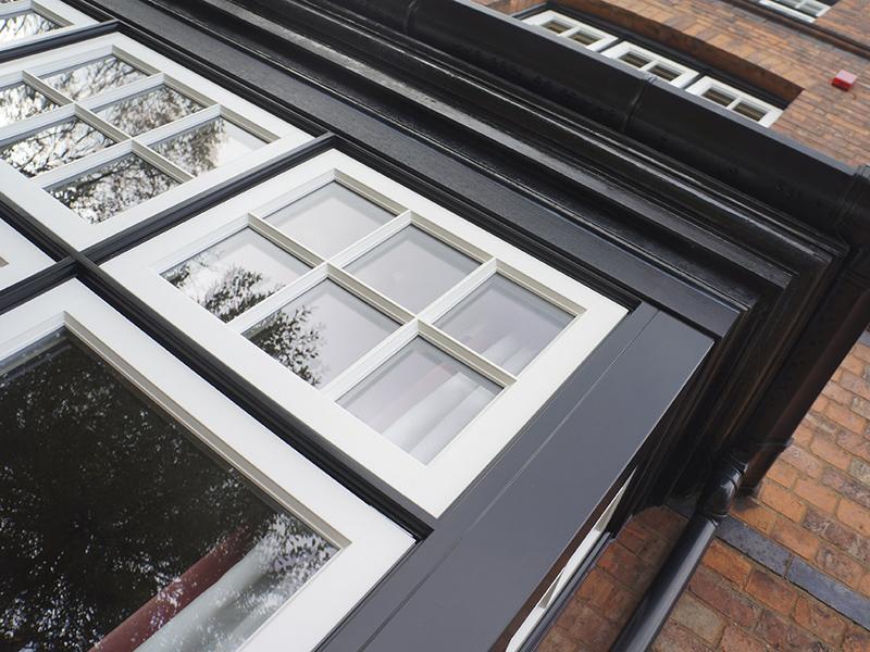 Heale monochrome deco casement bay window