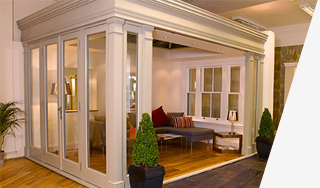 showroom wooden framed orangeries Leamington Spa
