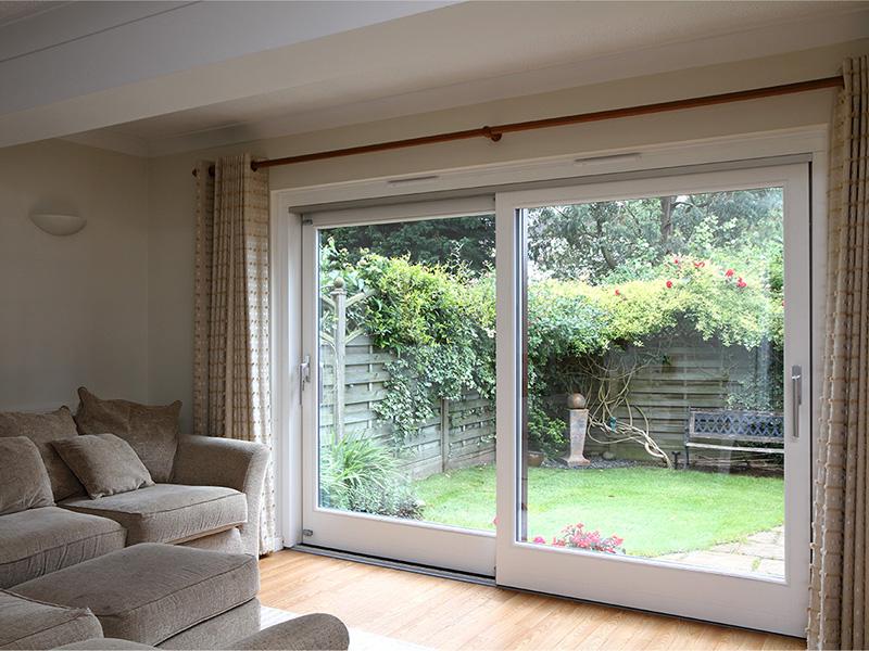 white sliding patio doors interior closed stainless steel furniture