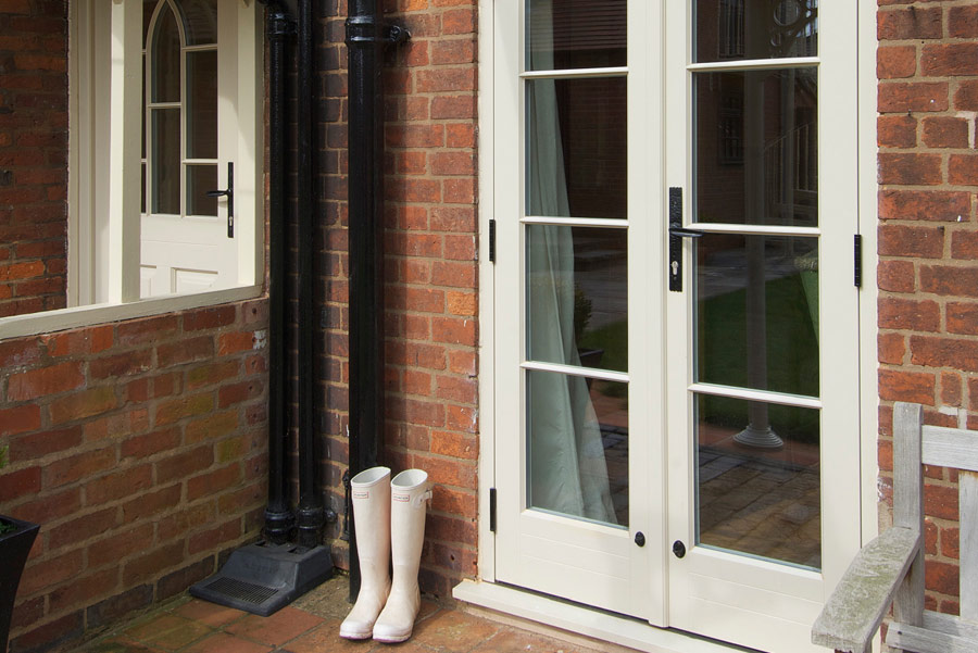 timber wooden french doors Leamington Spa